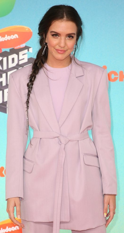 Lilimar Hernandez' lilac virgin wool tailored blazer from House Of Holland