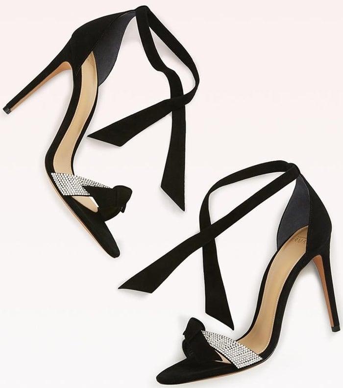 3b7959bbef37 Alexandre Birman suede sandal with crystal-embellished strap
