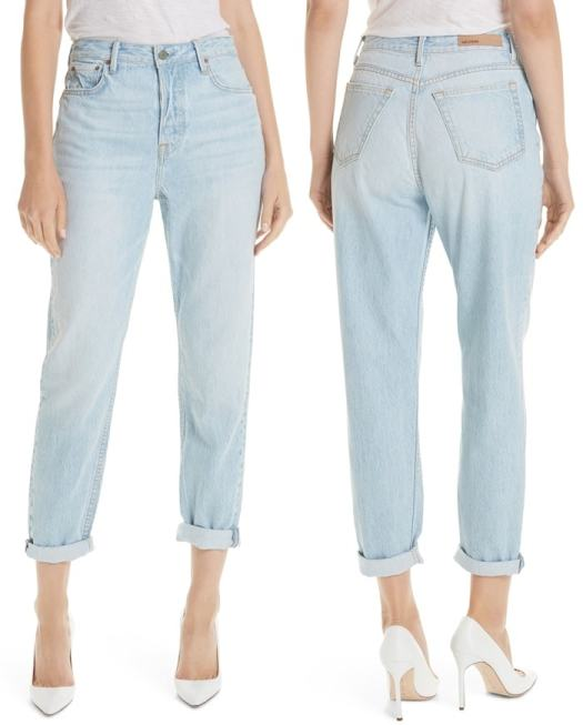 Slouched jeans crafted from Italian nonstretch denim offer a laid-back, borrowed-from-the-boys feel.