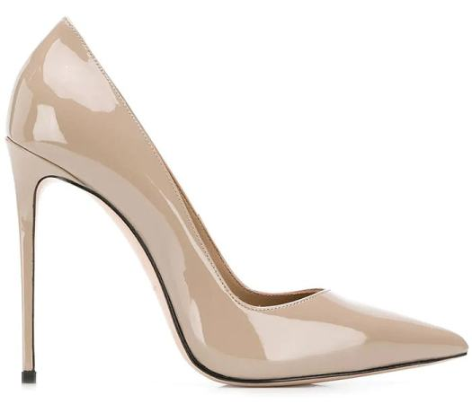 Le Silla Eva Pumps in Beige Patent