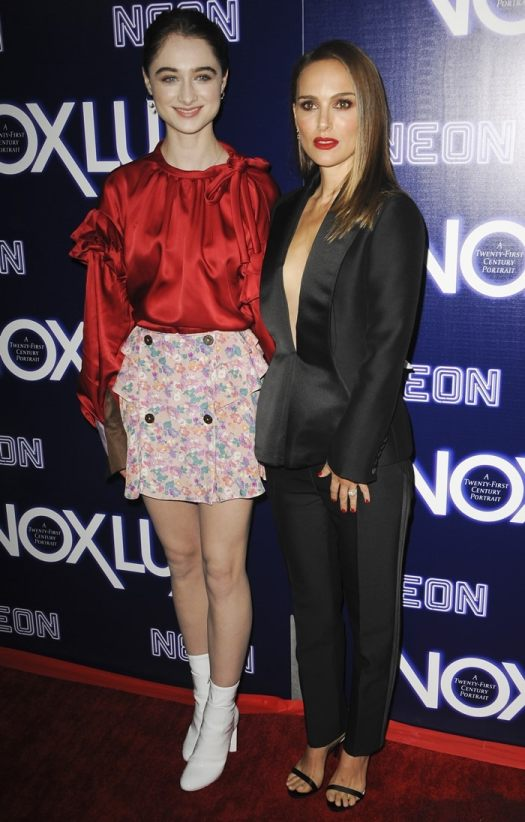 Natalie Portman and her co-star Raffey Cassidy at the premiere Vox Lux