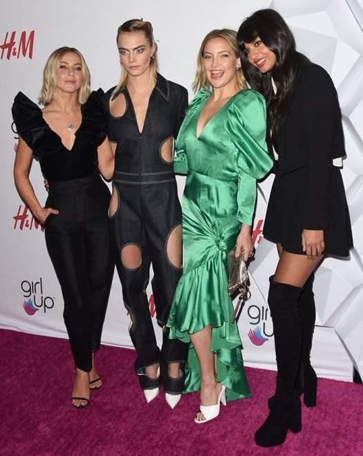 Julianne Hough, Cara Delevingne, Kate Hudson, and Jameela Jamil at the 2nd Annual Girl Up #GirlHero Awards