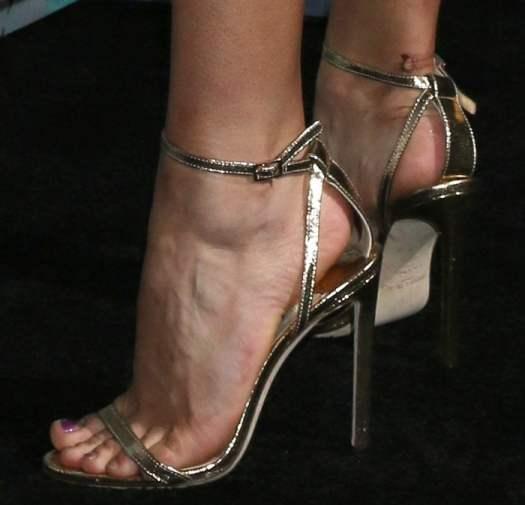 Rowan Blanchard shows her sexy feet in Jimmy Choo sandals