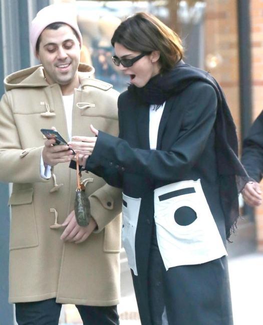 Kendall Jenner pretending to be shocked in New York City on November 20, 2019