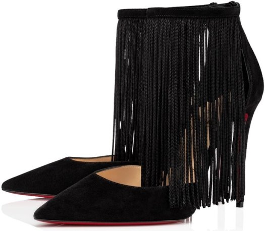 This Courtain stiletto is made from ultra-soft black calfskin suede