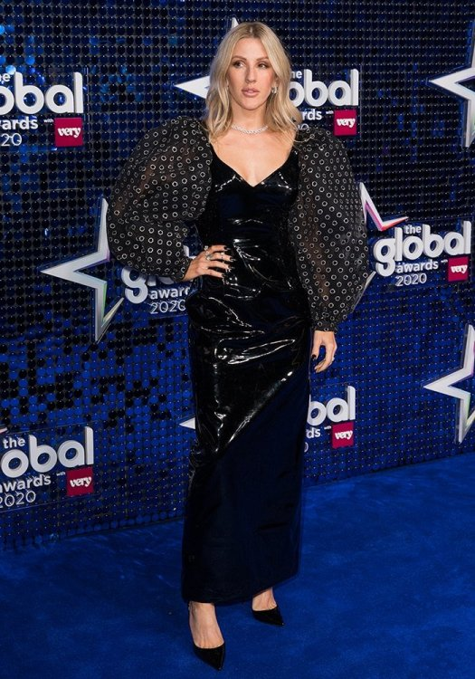 Ellie Goulding was styled by Nathan Klein at The Global Awards 2020