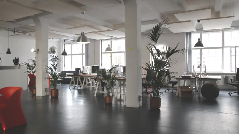 Interior of modern, clean, contemporary office space