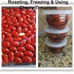 Roasting, freezing and using cherry tomatoes