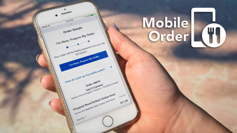 Mobile Ordering for Disney Dining Plan