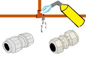 Example different plumbing fitting
