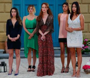 The girls wait to see who Tim Warmels sends home this week on The Bachelor Canada 2 episode 6