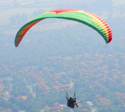 paragliding over Santiago Chile on Amazing Race Canada 3 episode 2