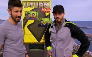 Gino Montani and Jesse Montani U-turn Brent Sweeney and Sean Sweeney on The Amazing Race Canada 3