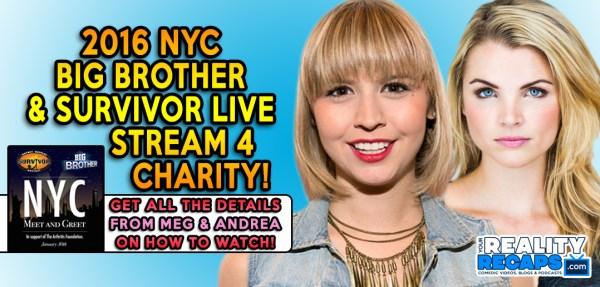 NYC Big Brother & Survivor Fundraiser Live Stream!   Your ...