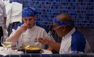 #HellsKitchen chefs are forced to eat their mistake by Chef Ramsay