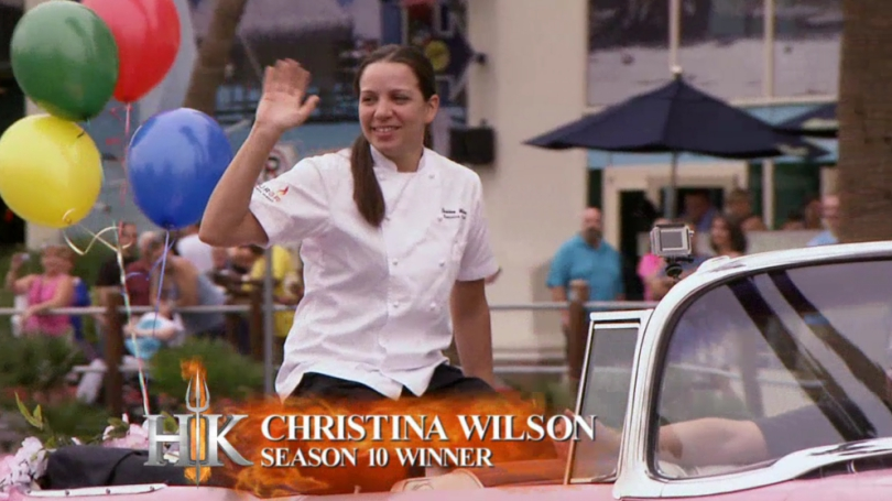 hellskitchen season 10 winner christina wilson returns as sous chef for the red team - Hells Kitchen Season 10 Episode 1