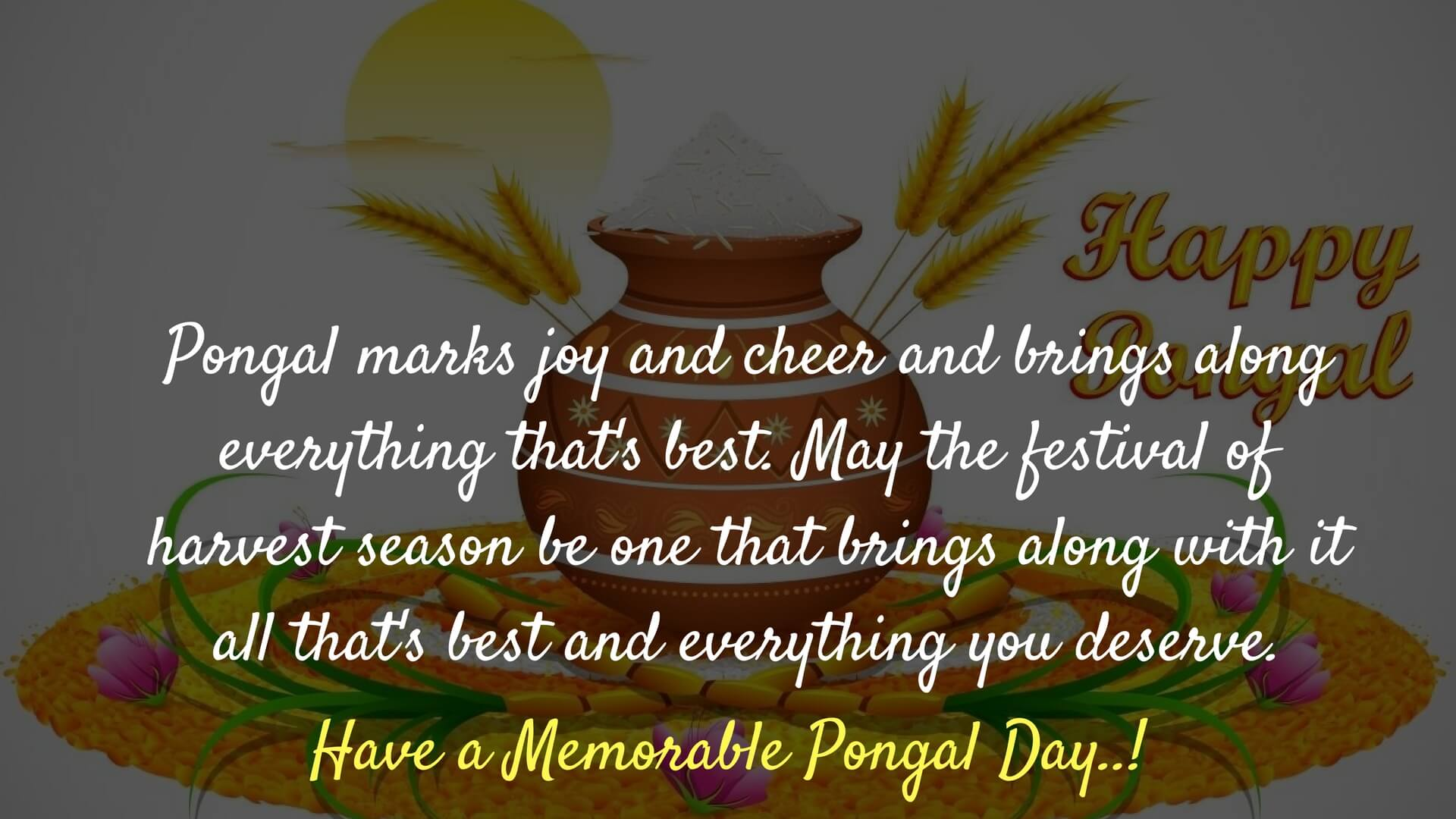 Happy pongal festival wishes 2018 messages greetings images pongal wishes pictures m4hsunfo Image collections