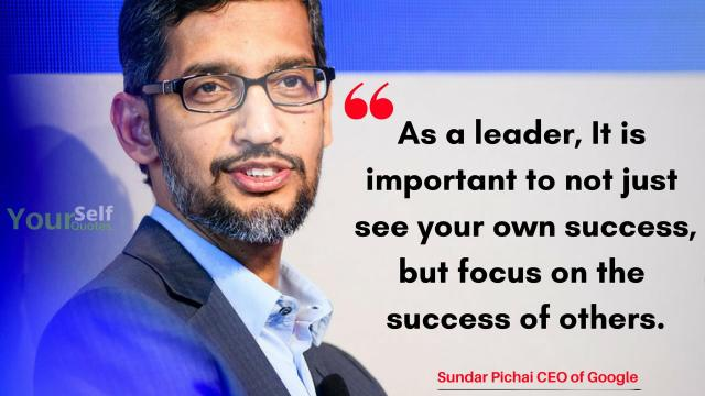 Sundar Pichai Quotes On Success