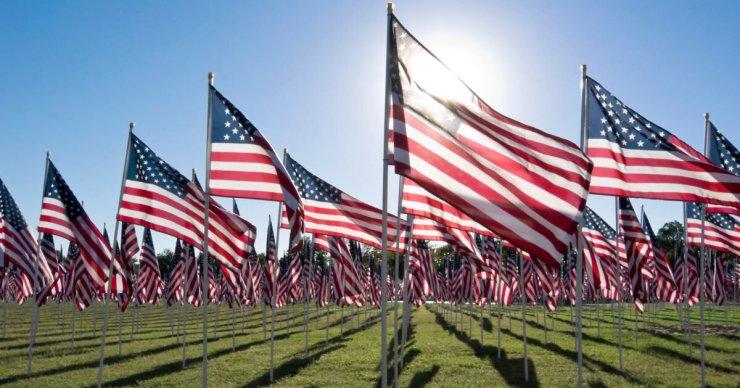 Memorial Day America Flag