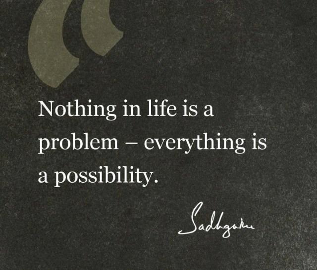 Sadhguru Quote on Life Thoughts