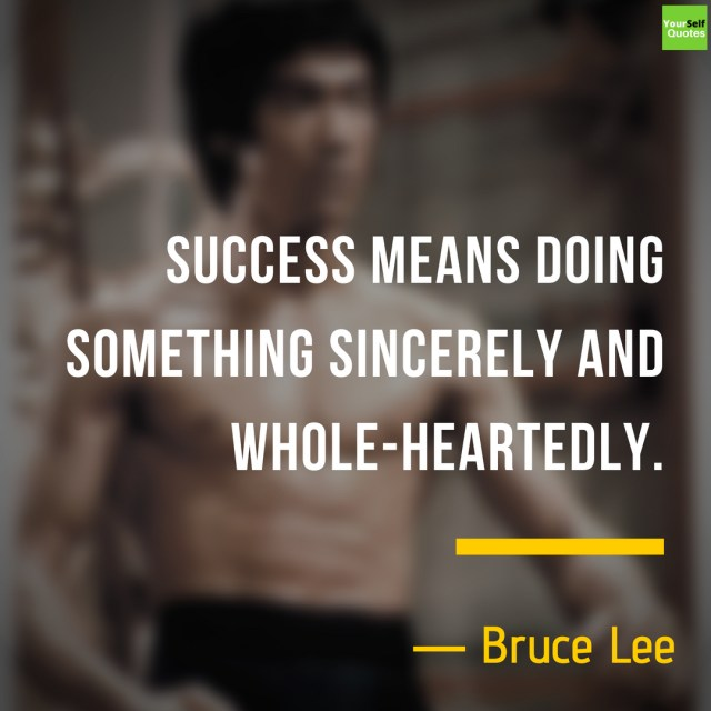 Bruce Lee Quotes Images on Success