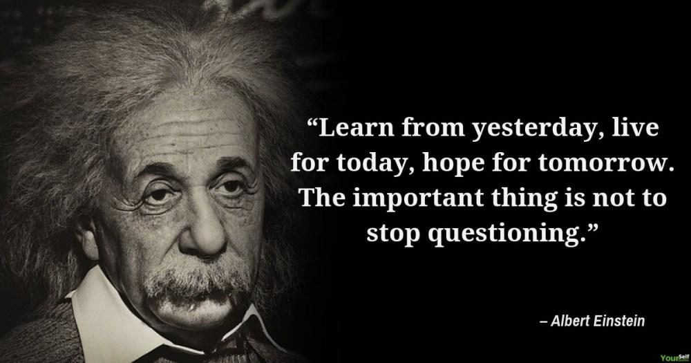 Albert Einstein Quotes on Learning