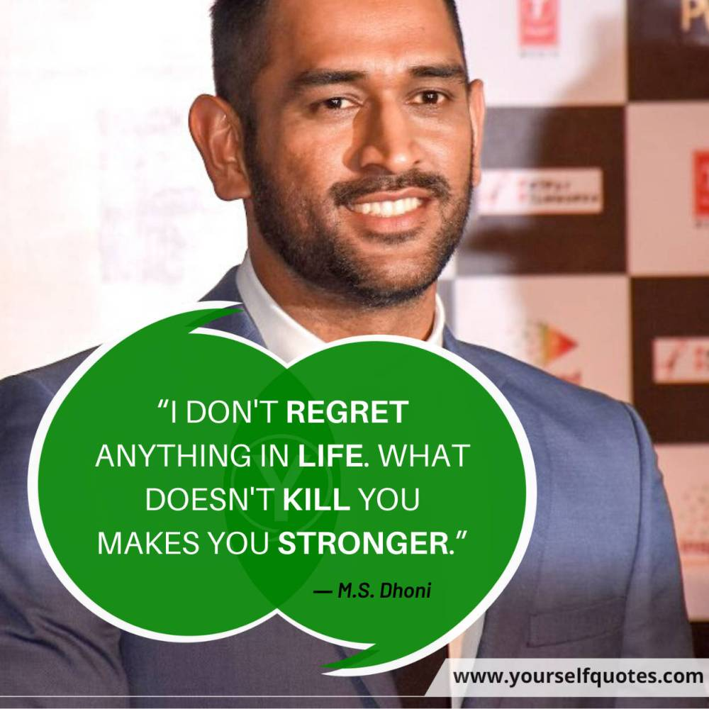 MS Dhoni Quotes Images