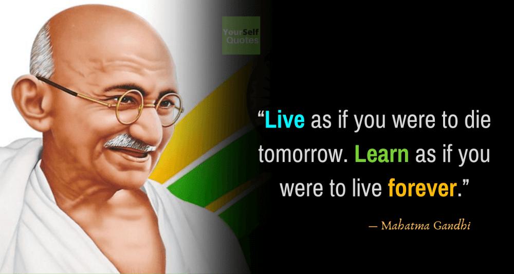 Mahatma Gandhi Quotes on Teachers Day
