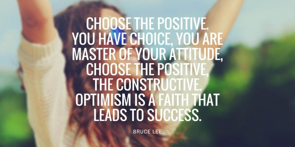 Positive Attitude Quote by BruceLee