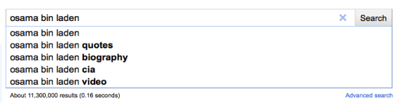 google suggest before