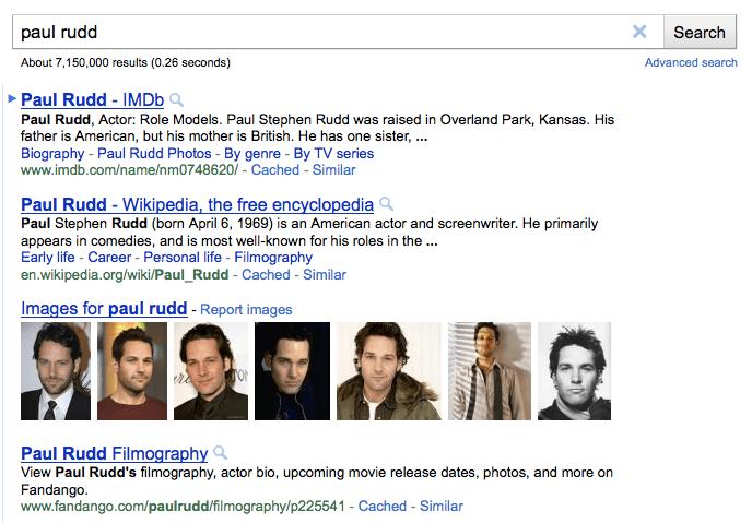 paul rudd google screenshot