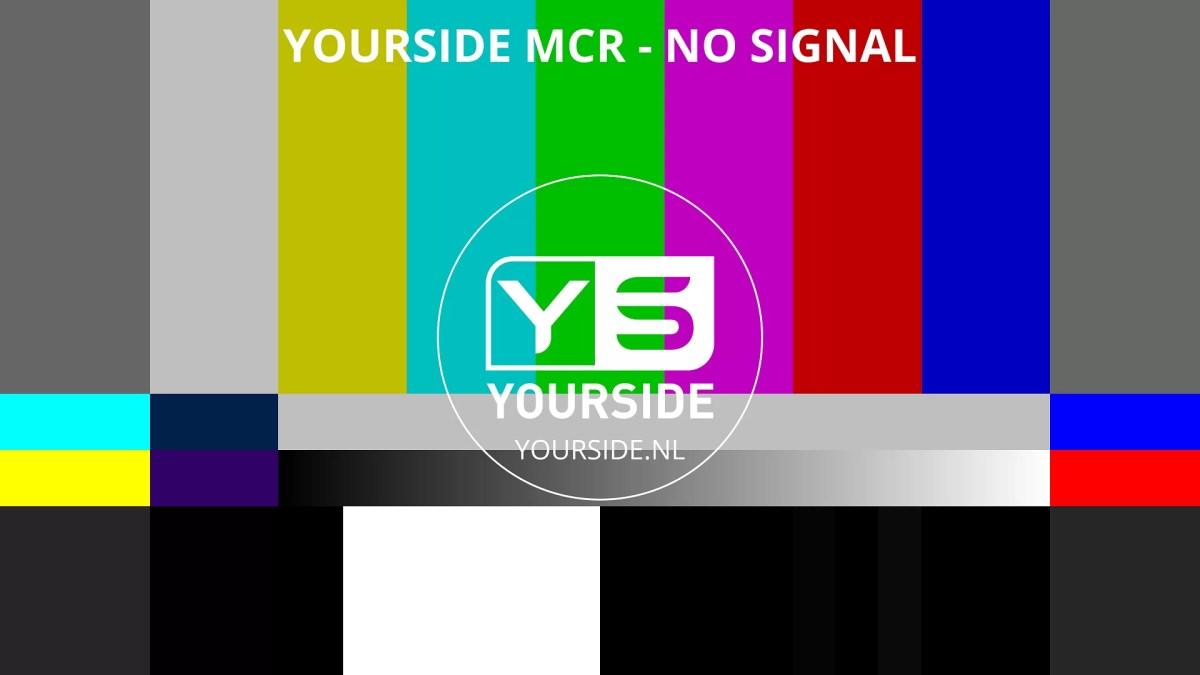 YOURSIDE SMPTE COLORBARS - no signal