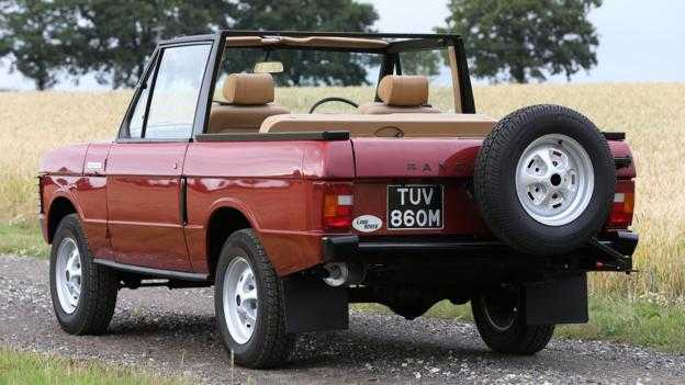 1973 Vintage Range Rover Convertible Up for Auction