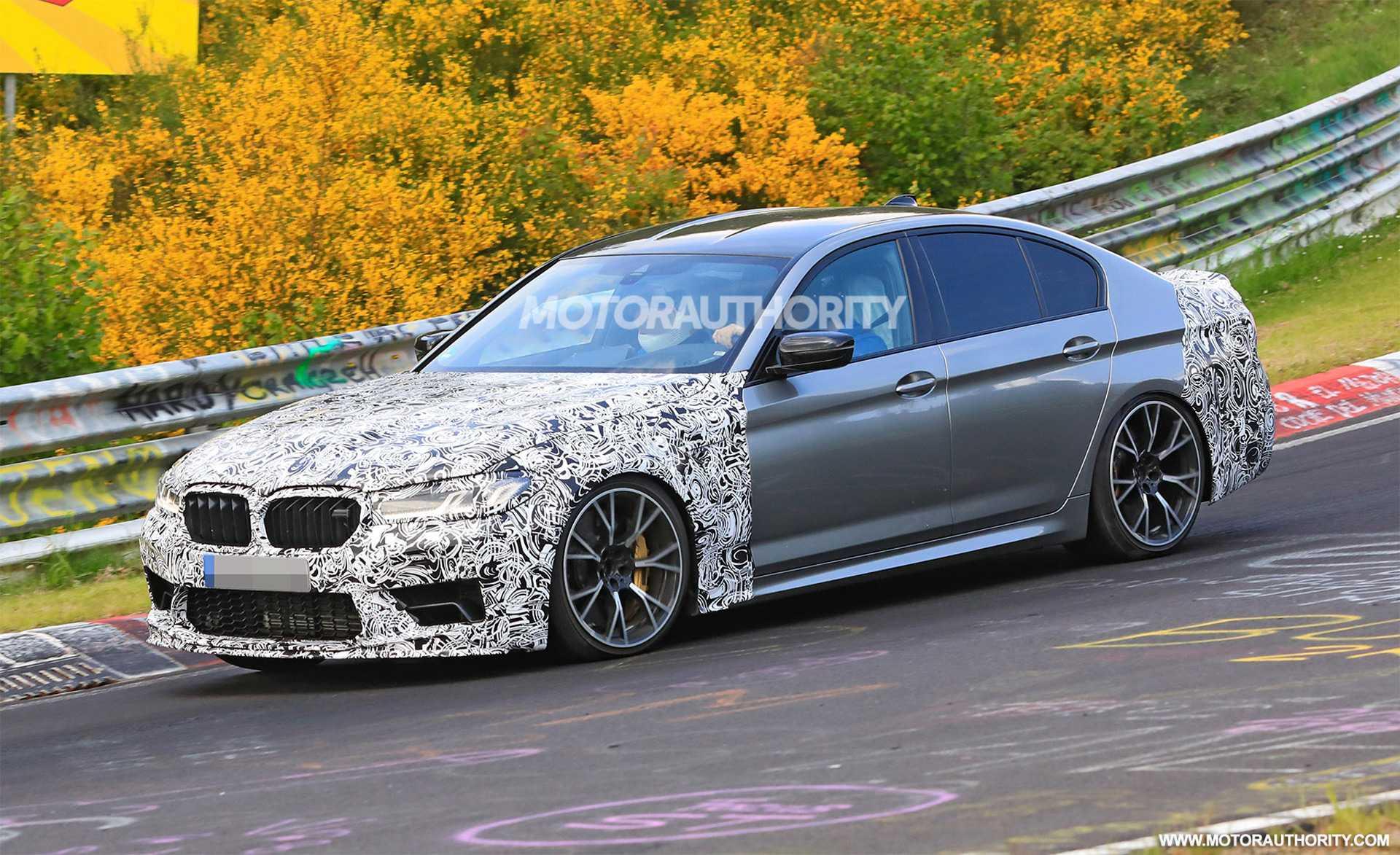 BMW M5 CS spy shots
