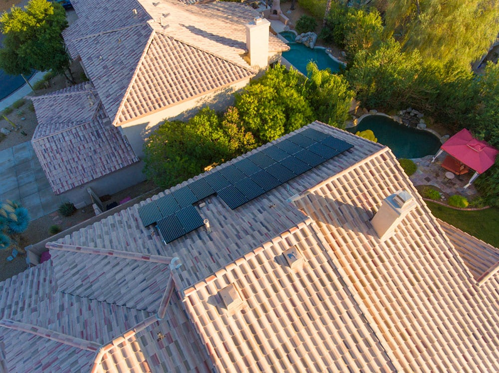 aerial view of new roofwork
