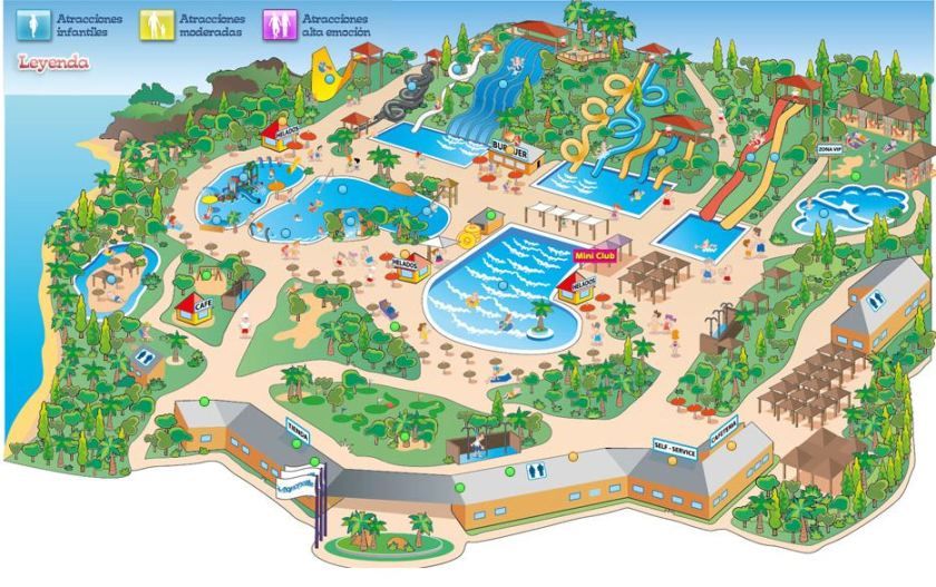 Map of Aquopolis aquapark Torrevieja Water park