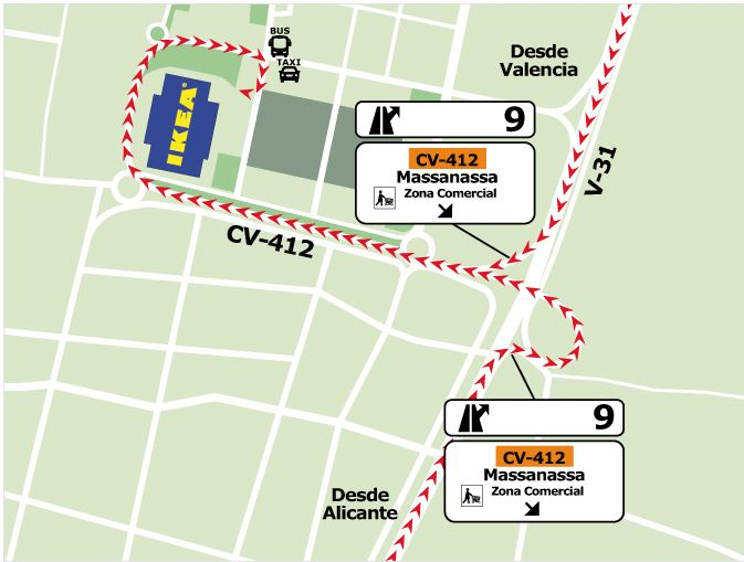 Ikea Valencia. How to get to there .