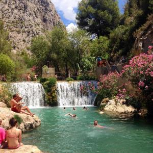 Guadalest and Algar waterfalls