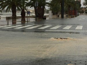Sewage not able to handle the Flood and heavy storm picture taken around Mar Menor