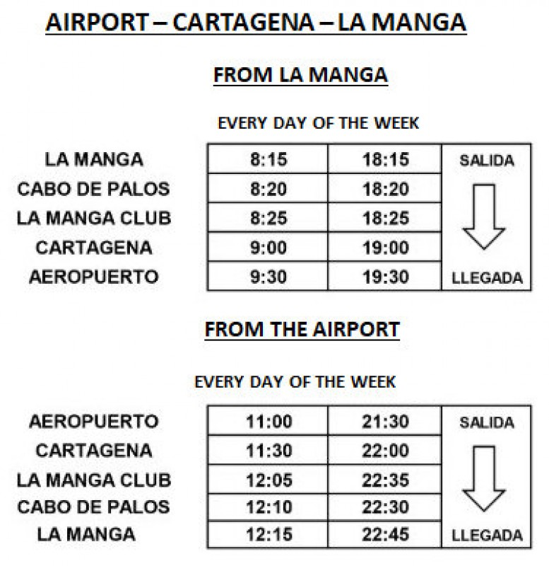 Public buses to Corvera Airport