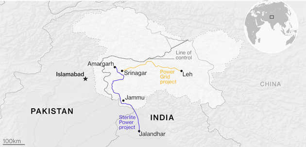 जम्मू-काश्मीरची वीज वहन क्षमता ३३टक्क्यांनी वाढली