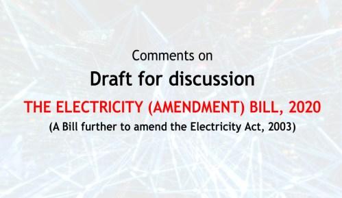 Electricity act amendment 2020 ECEA