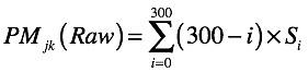 Equation 7: Raw Psychic Metric
