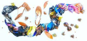 autunno scarpe e foulard