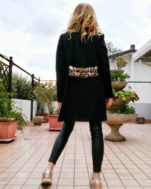 street style cappotto maculato