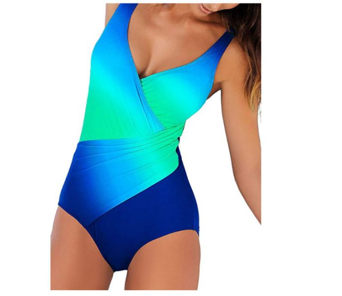 costume intero blu con pushup