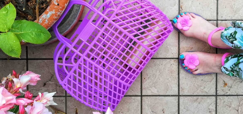sandali di gomma glitterati