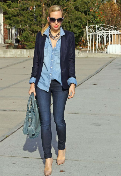giacca tailleur e jeans