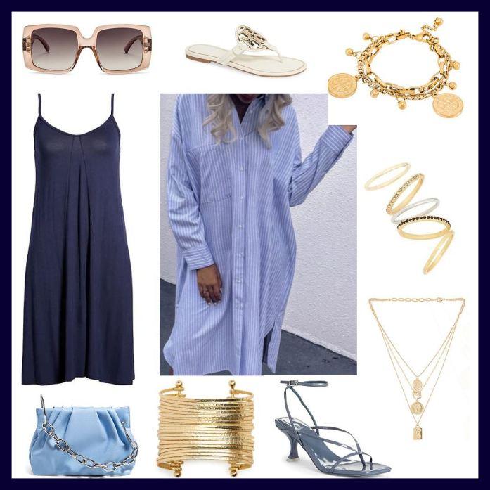 shirt dress and sleep dress