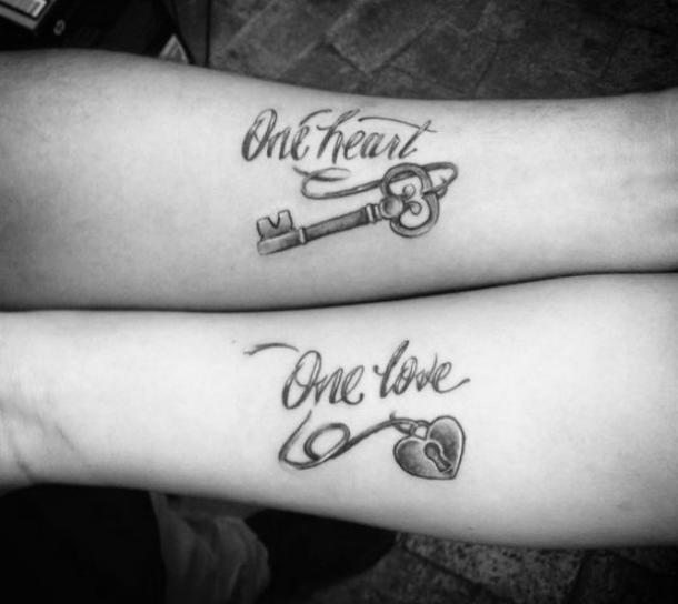 couples quote tattoos